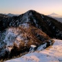 バラ谷の頭・黒法師岳・丸盆岳(南アルプス深南部)、戸中川方面から往復。登りはシブロク歩道付近から、下りは等高尾根を下る。